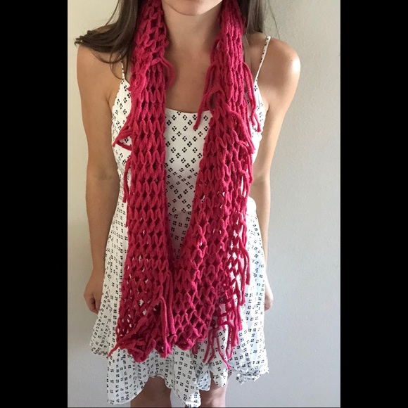 Chatties Accessories Infinity Loose Knit Scarf Tassel A2 Poshmark